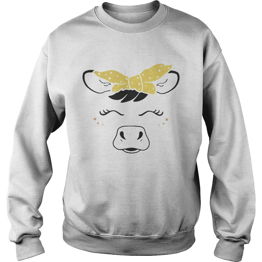 Cow bow  Sweatshirt