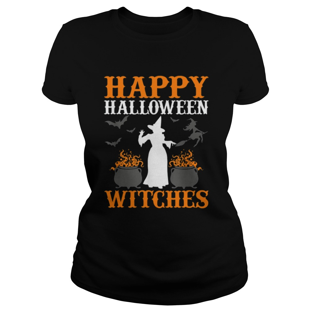 Hot Happy Halloween Witches Cute Spell Casting Witch Classic Ladies