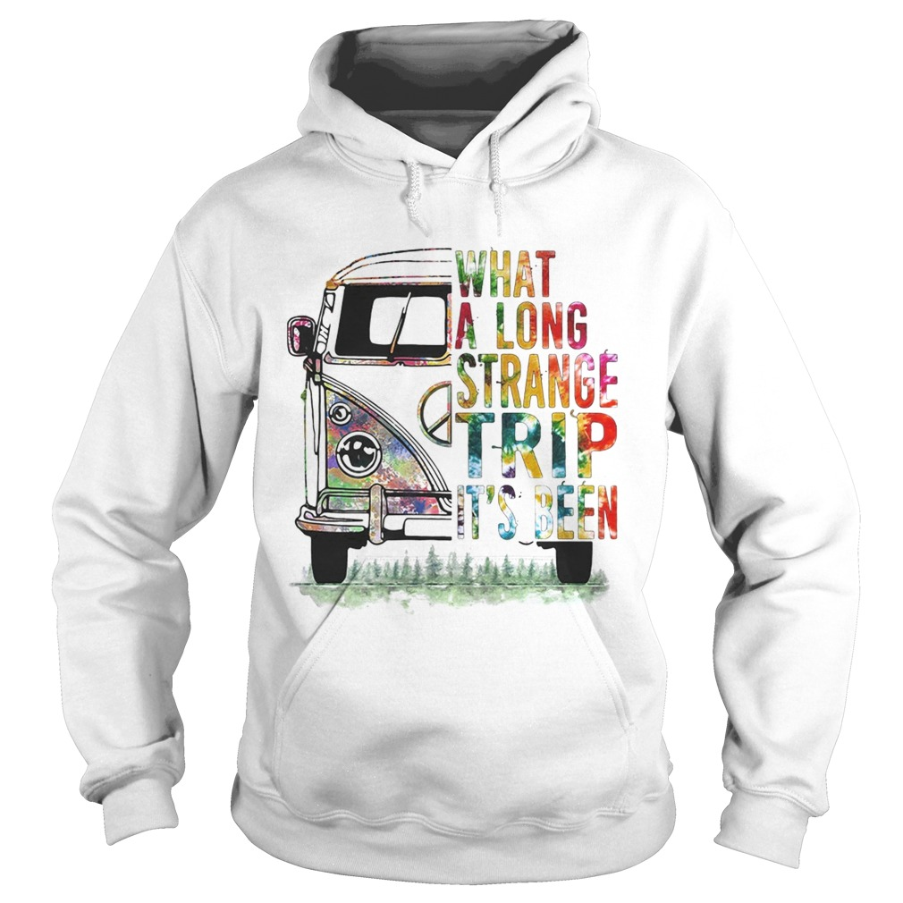 Pretty Hippie bus What a long strange trip its been Hoodie