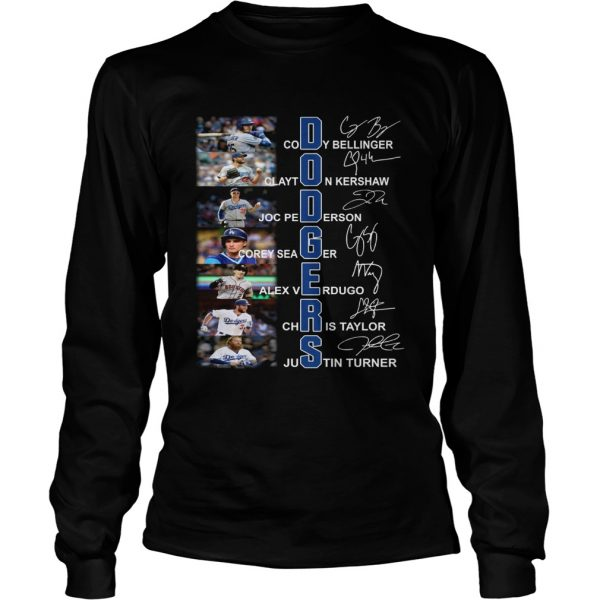Dodgers all Players signature  LongSleeve