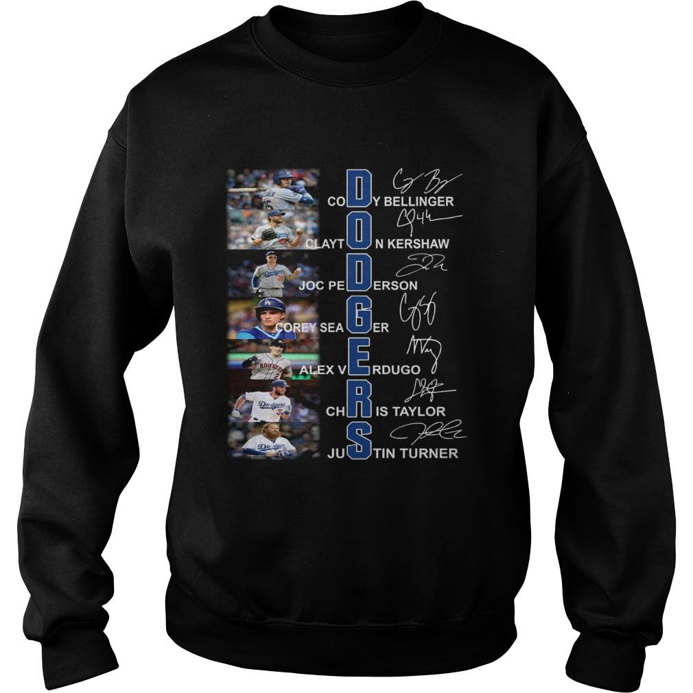 Dodgers all Players signature Sweatshirt