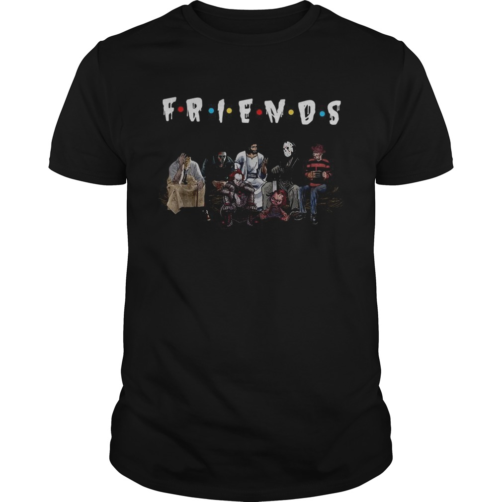 Halloween Friends TV Show horror movie characters and Jesus Unisex