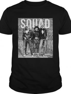 Horror movie characters squad shirt
