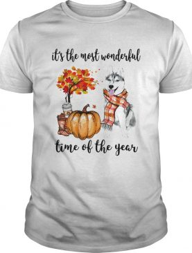 Husky its the most wonderful time of the year shirt
