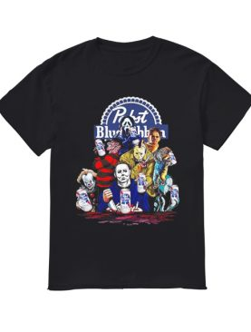 Pabst Blue Ribbon Horror characters Halloween shirt