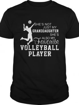 Shes not just my grandaughter shes also my favorite volleyball player shirt