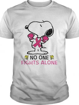 Snoopy no one fights alone shirt