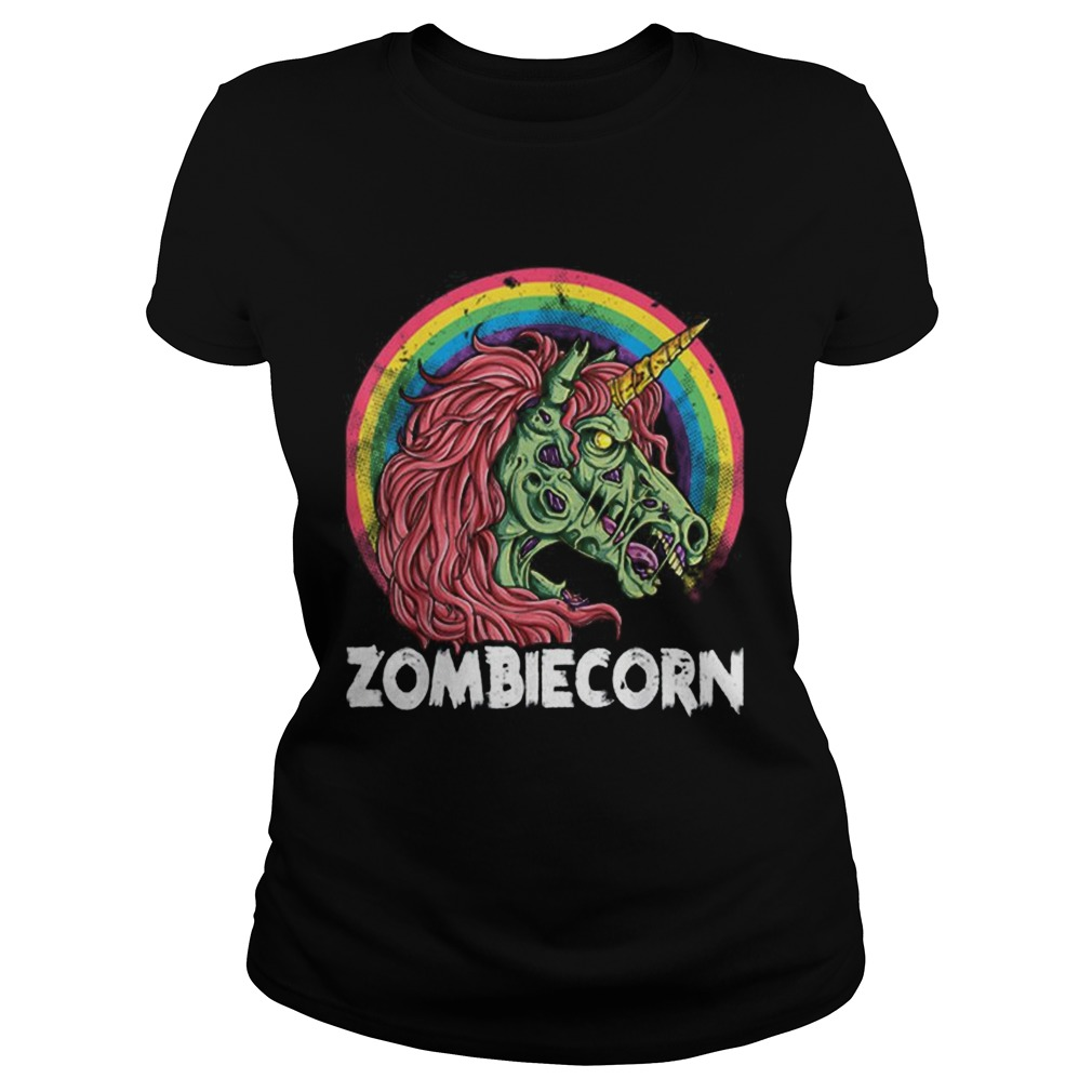 Top Zombiecorn Zombie Unicorn Halloween Women Rainbow Classic Ladies