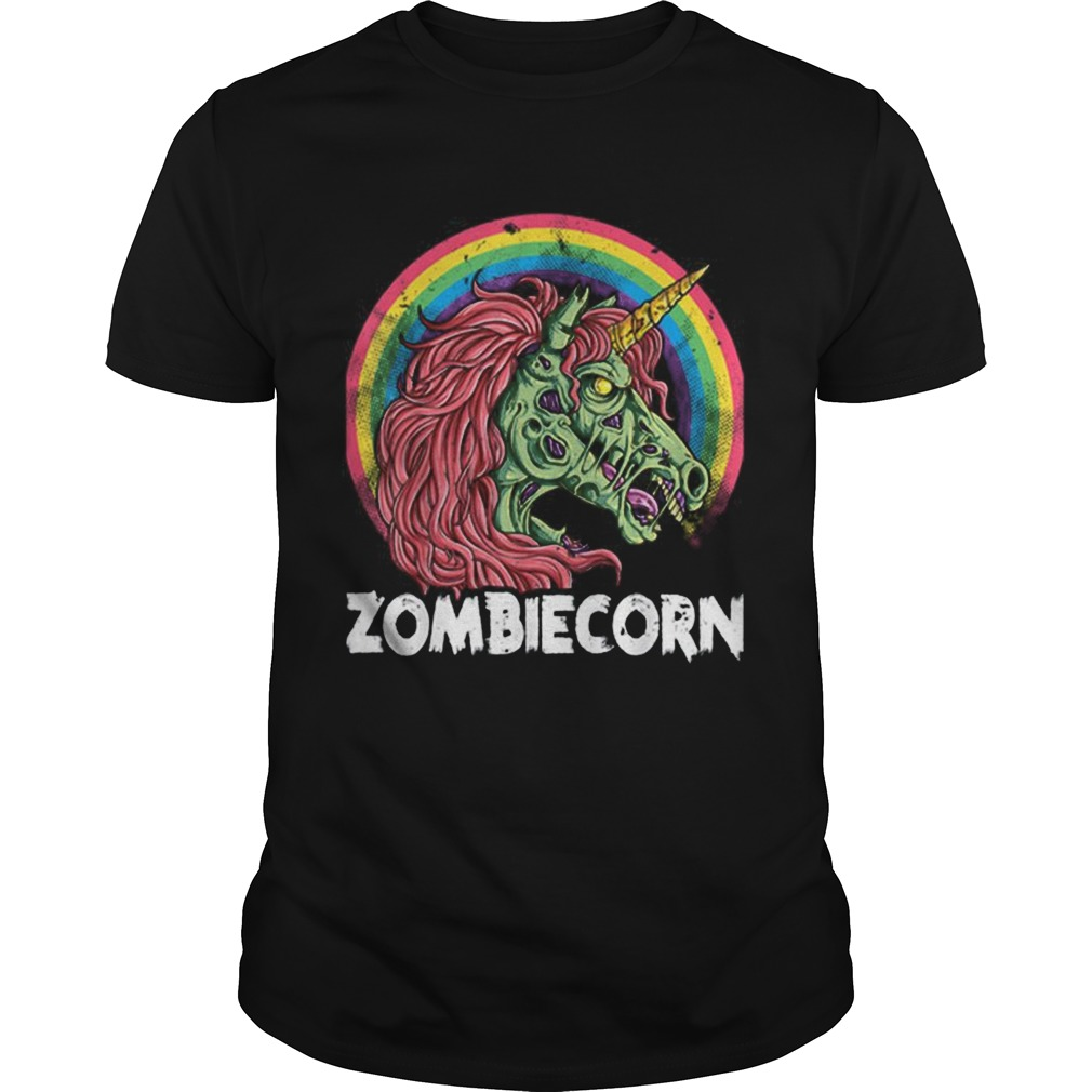 Top Zombiecorn Zombie Unicorn Halloween Women Rainbow Unisex