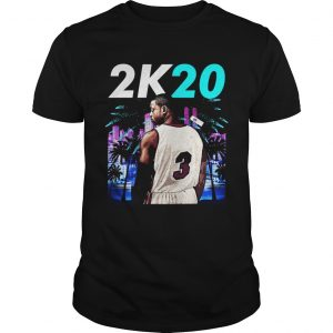 Wintertee 2K20Wade 3 Miami Basketball Jersey for Shirt