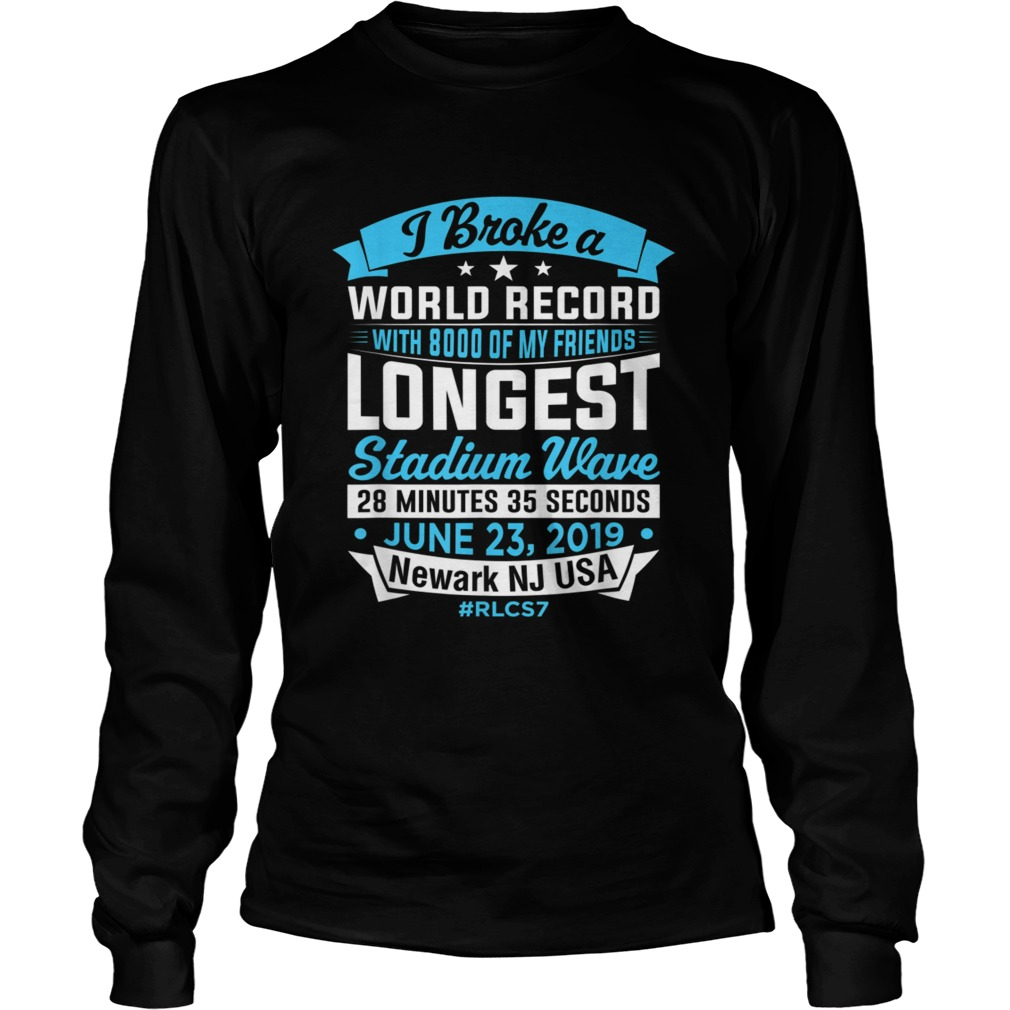 World Record Longest Stadium Wave T Shirt LongSleeve