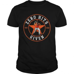 Zero Hits 9 01 2019 given Houston Astros shirt