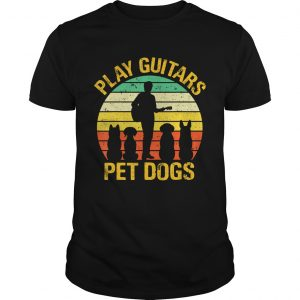 vintage Play guitars pet dogsTShirt