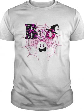 Boo Breast Cancer Awareness Ghost Halloween Ribbon shirt