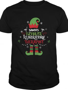 ELF Santas Favorite Respiratory therapist shirt