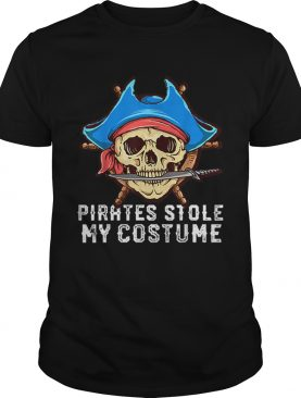 Halloween Pirates Stole My Costume Easy Outfit Adults shirt