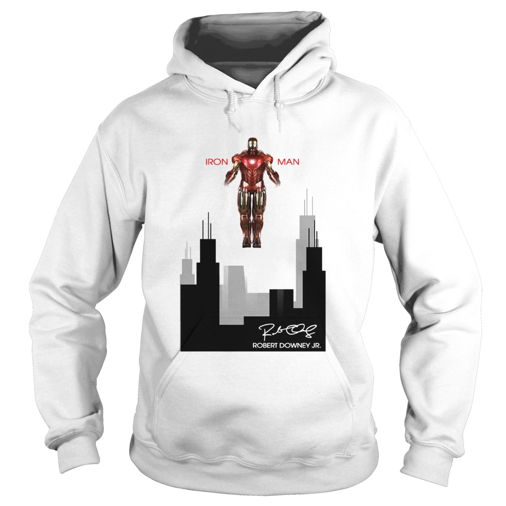 Iron man Robert Downey Jr Signature Stark industries Hoodie