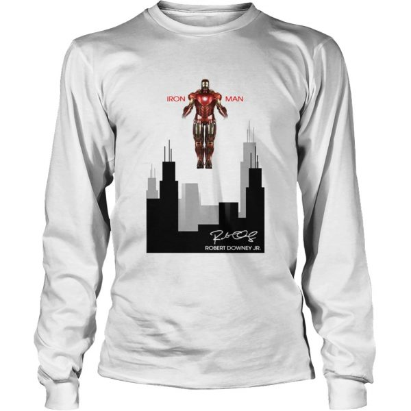 Iron man Robert Downey Jr Signature Stark industries  LongSleeve