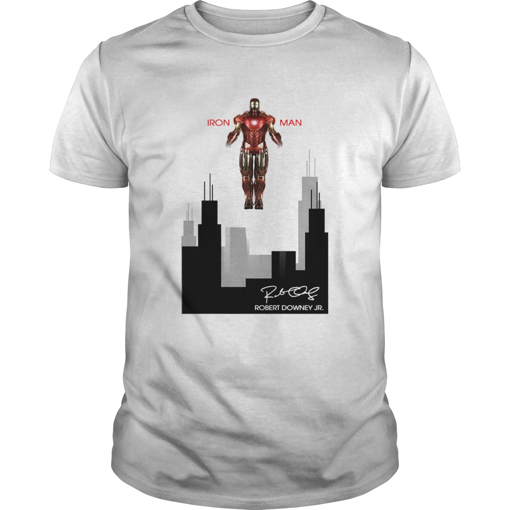 Iron man Robert Downey Jr Signature Stark industries Unisex