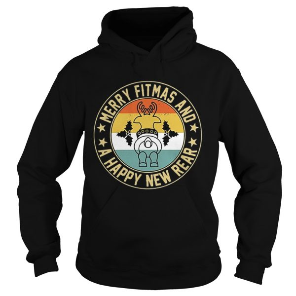 Merry fitmas and a happy new rear vintage  Hoodie
