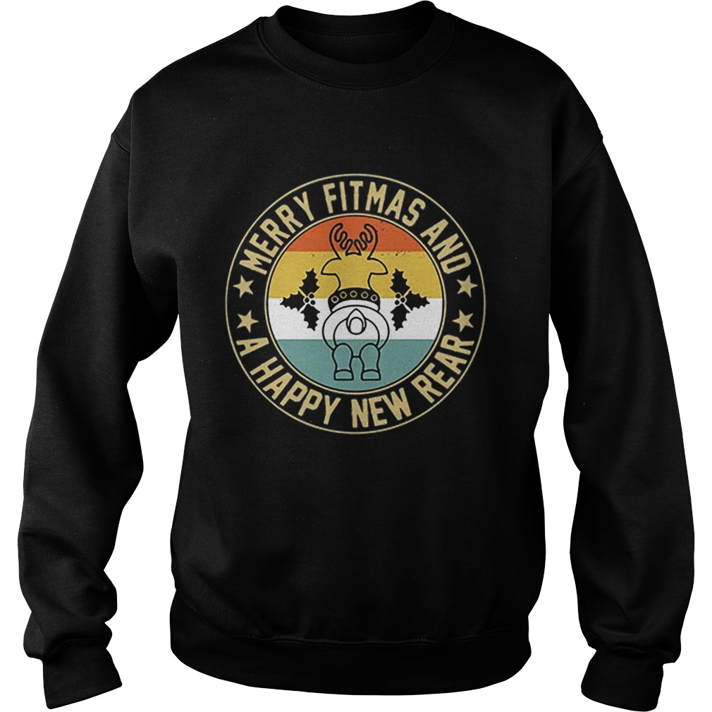 Merry fitmas and a happy new rear vintage Sweatshirt