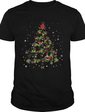 Miniature Pinscher Christmas Tree TShirt