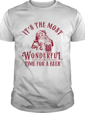 Santa Claus Its The Most Wonderful Time For A Beer Shirt