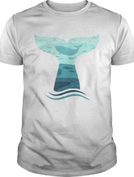 Whale Tail in Waves Orca Ocean Shirt