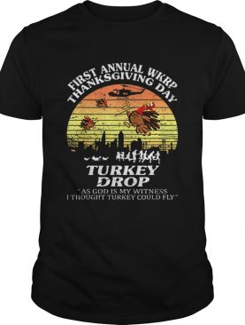 Wkrp Turkey Drop Thanksgiving As God Is My Witness Vintage shirt
