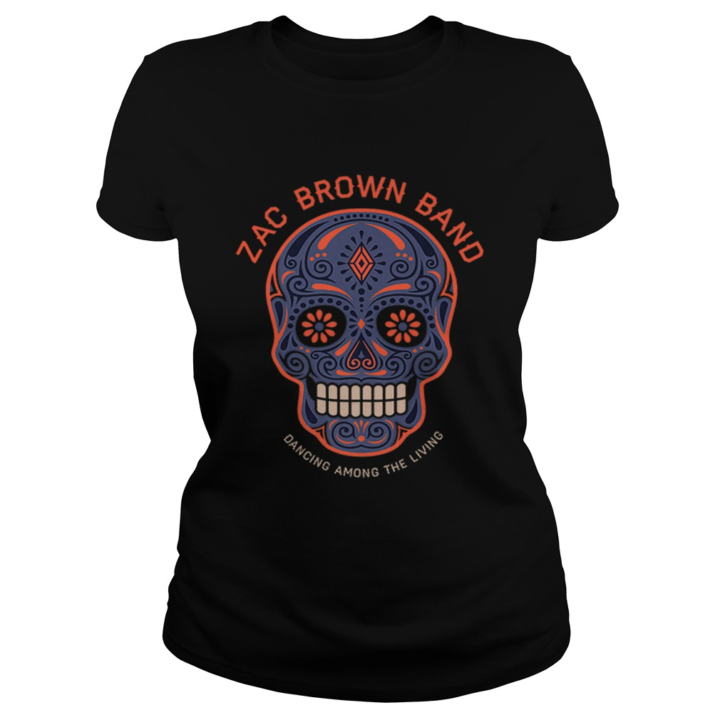 Zac Brown BandSugar Skull Halloween Day of the Dead Classic Ladies
