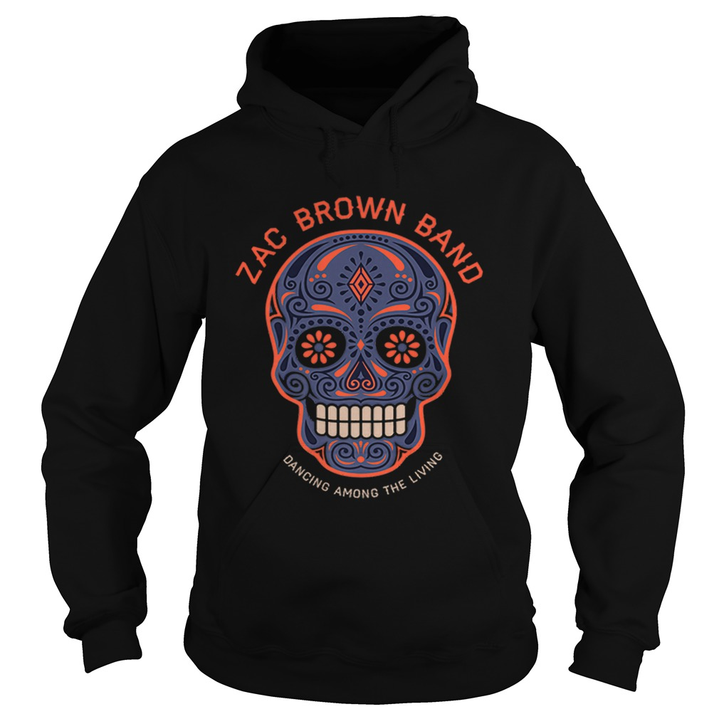 Zac Brown BandSugar Skull Halloween Day of the Dead Hoodie