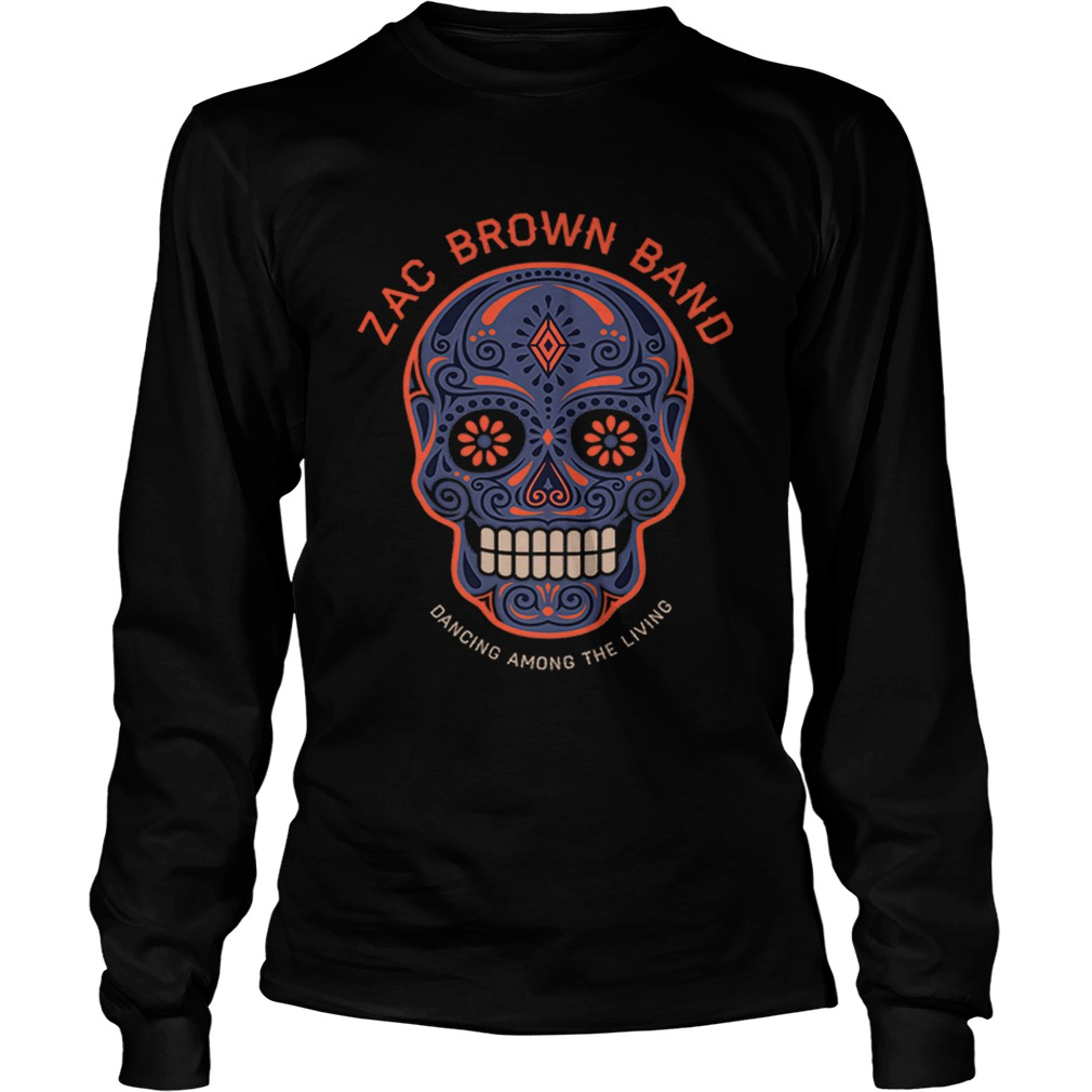 Zac Brown BandSugar Skull Halloween Day of the Dead LongSleeve