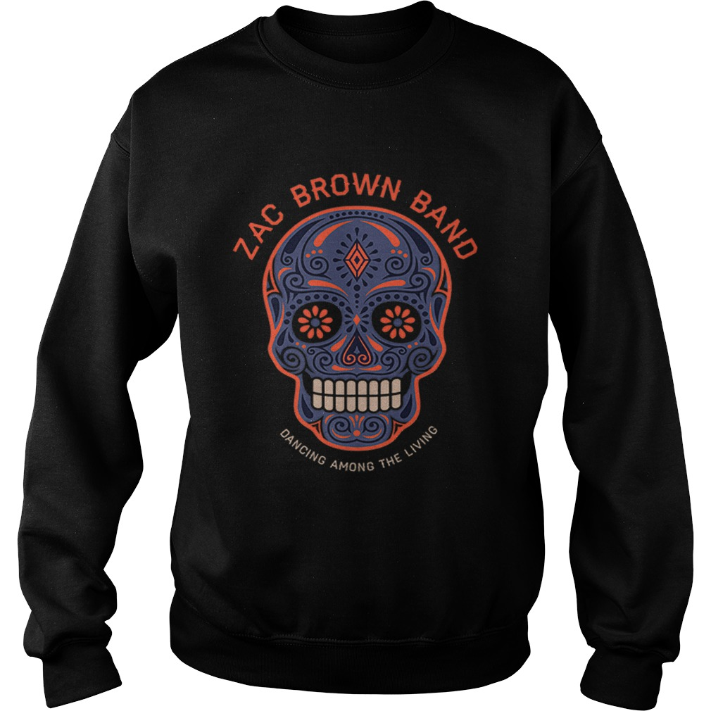 Zac Brown BandSugar Skull Halloween Day of the Dead Sweatshirt