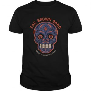Zac Brown BandSugar Skull Halloween Day of the Dead  Unisex