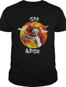 Zombie vampire grr argh mutant enemy halloween shirt