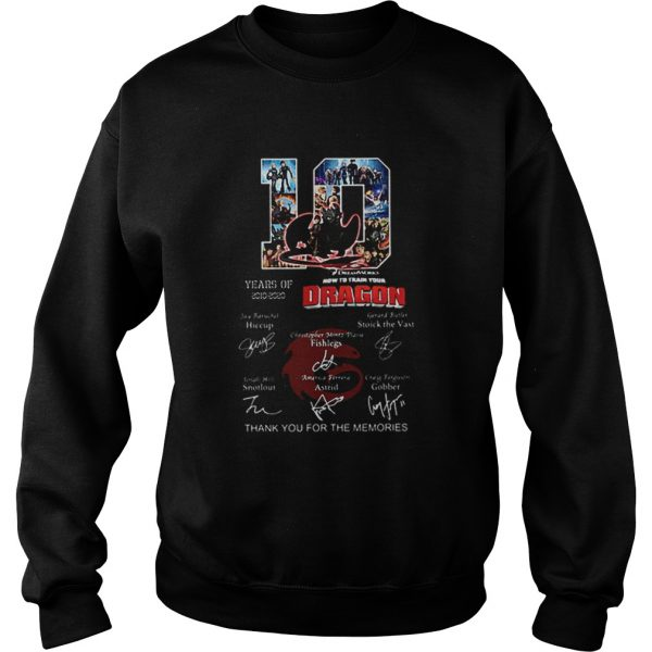 10 Years of How To Train Your Dragon thank you for the memories  Sweatshirt