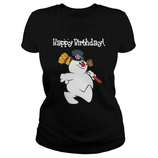 1573547054Frosty The Snowman Happy Birthday Christmas Graphic  Classic Ladies