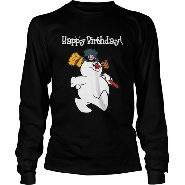 1573547054Frosty The Snowman Happy Birthday Christmas Graphic  LongSleeve