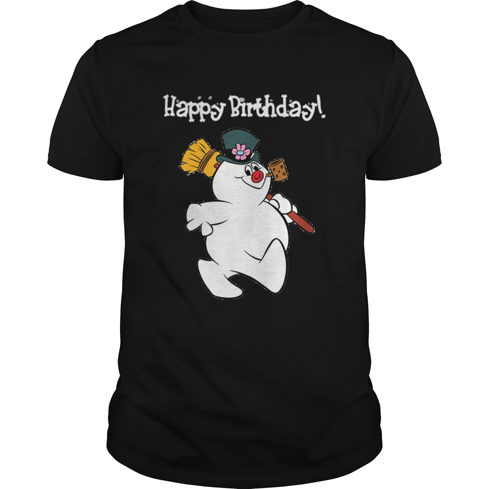 1573547054Frosty The Snowman Happy Birthday Christmas Graphic Unisex