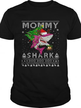 Awesome Mommy Shark Santa Christmas Family Matching Pajamas shirt