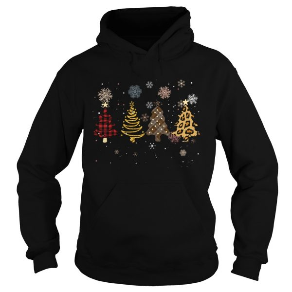 Four Tree Christmas Pattern Cloth Leopard Print Xmas Gift  Hoodie