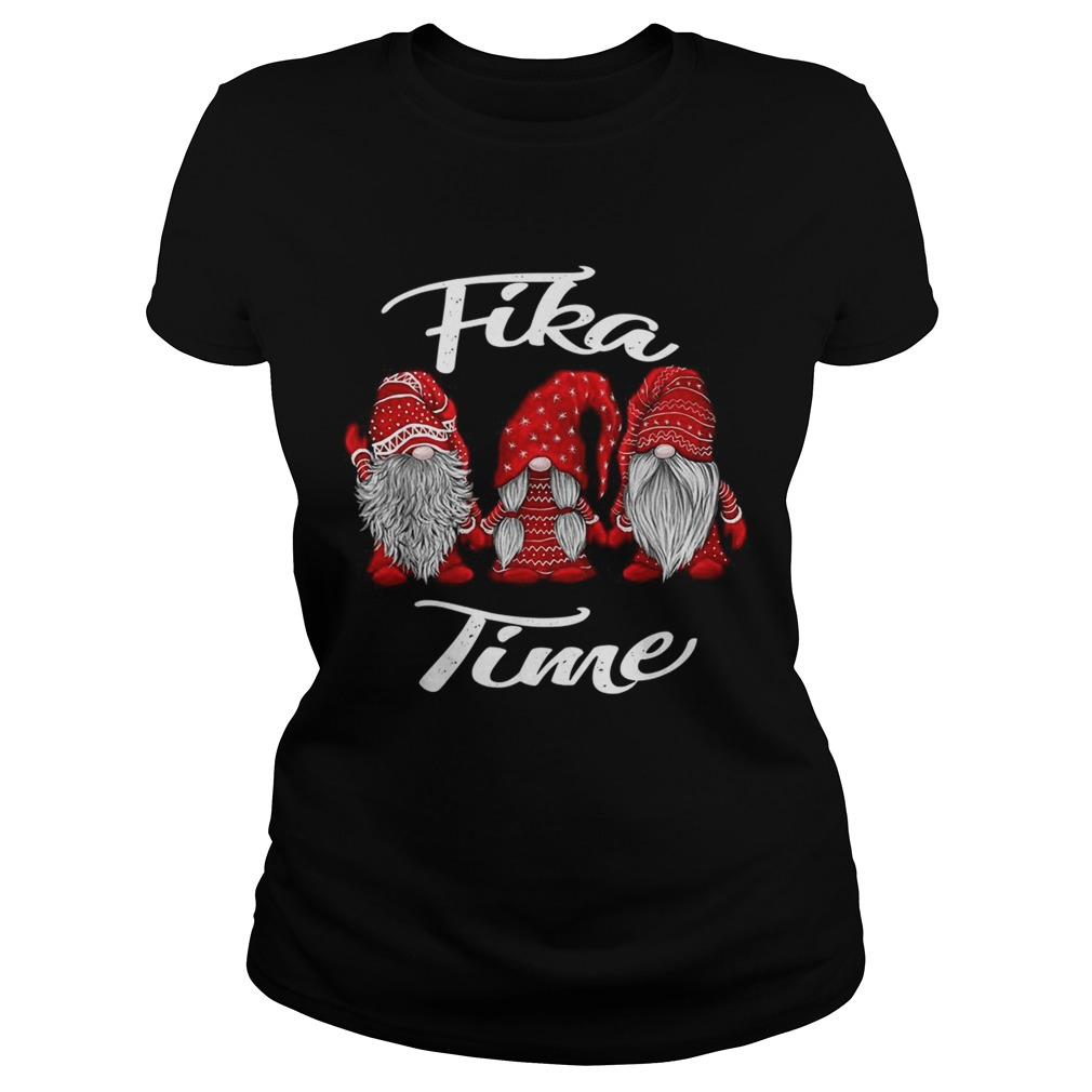 Gnomies Santa fika time Christmas Classic Ladies