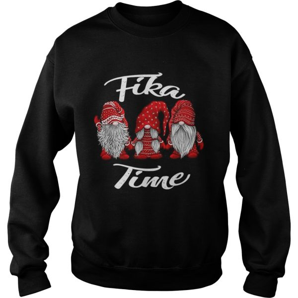 Gnomies Santa fika time Christmas  Sweatshirt
