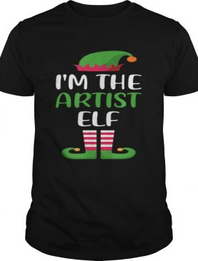Hot Im The Artist Elf Matching Family Group Christmas shirt