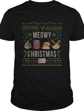 Meowy Christmas Cat Lover Tacky Ugly Christmas Party shirt