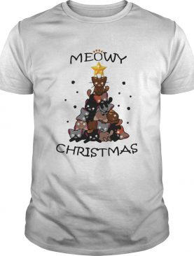 Meowy Christmas Tree Cute Merry Xmas shirt