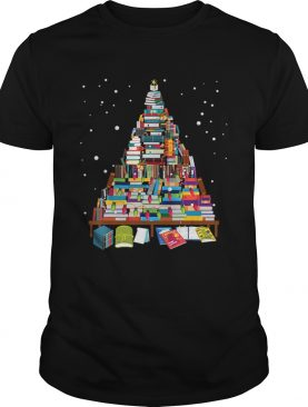 Merry Christmas Library Tree Gift For Book Lover Librarian shirt