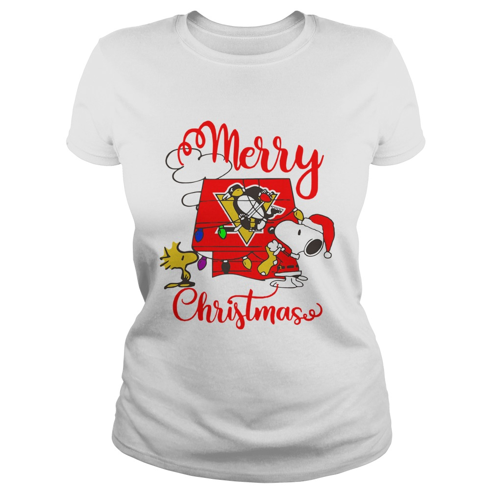 Merry Christmas Snoopy Pittsburgh Penguins Classic Ladies