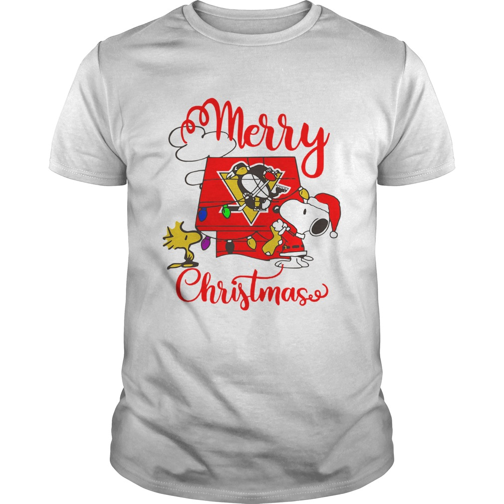 Merry Christmas Snoopy Pittsburgh Penguins Unisex