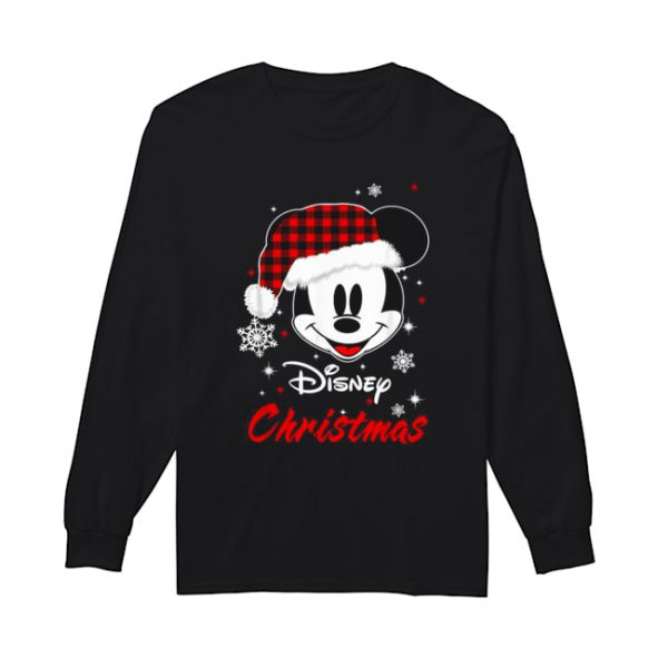 Mickey Mouse Santa Disney Christmas  Long Sleeved T-shirt